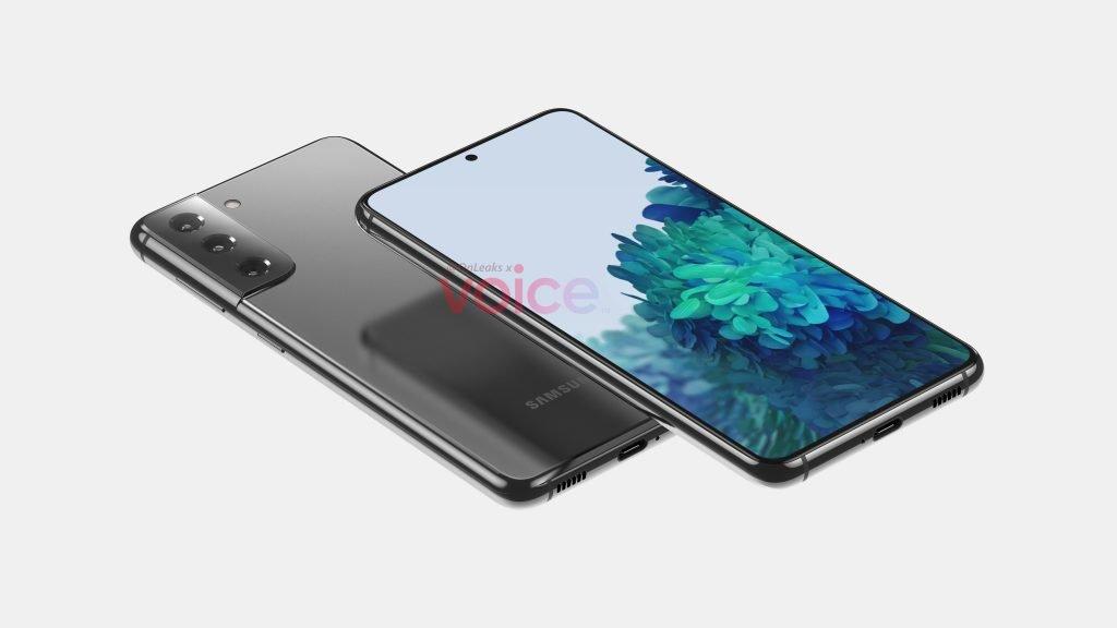 Samsung Galaxy S21 On Side